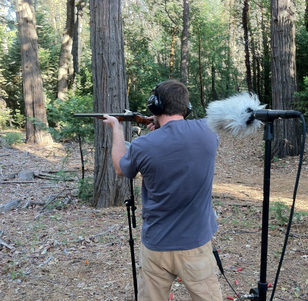 Here is a double-barreled 12 gauge shotgun that we were also able to record.