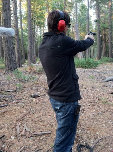 This is me shooting a 9mm.