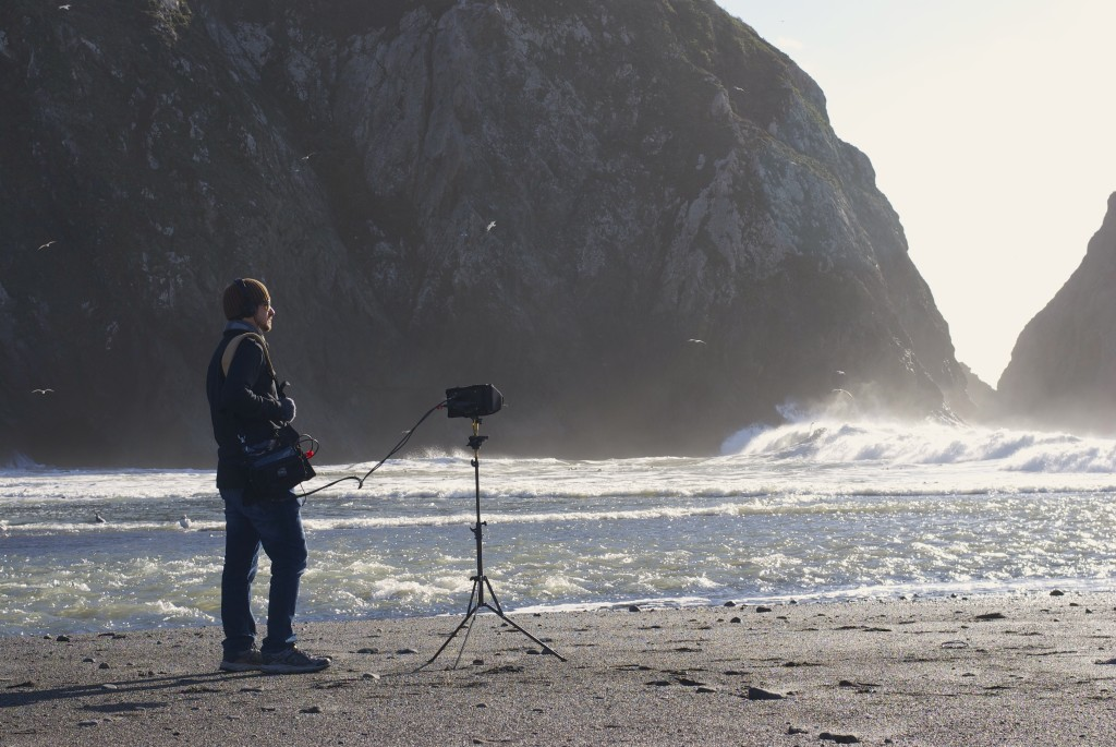 Recording waves crashing at Greenwood State Beach in Elk, CA.